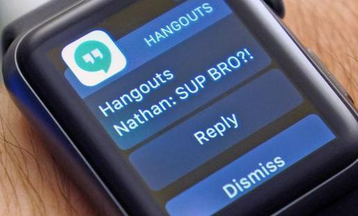 Google Hangouts on Apple Watch️